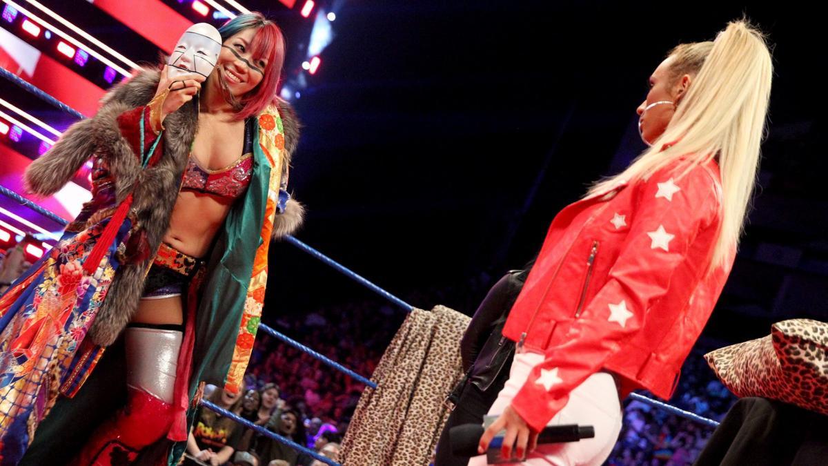 WWE Champions COrner Asuka Carmella