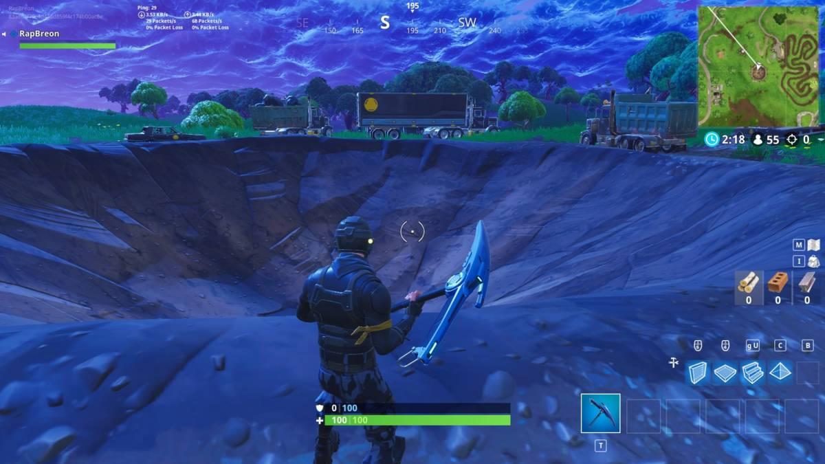 Fortnite crater
