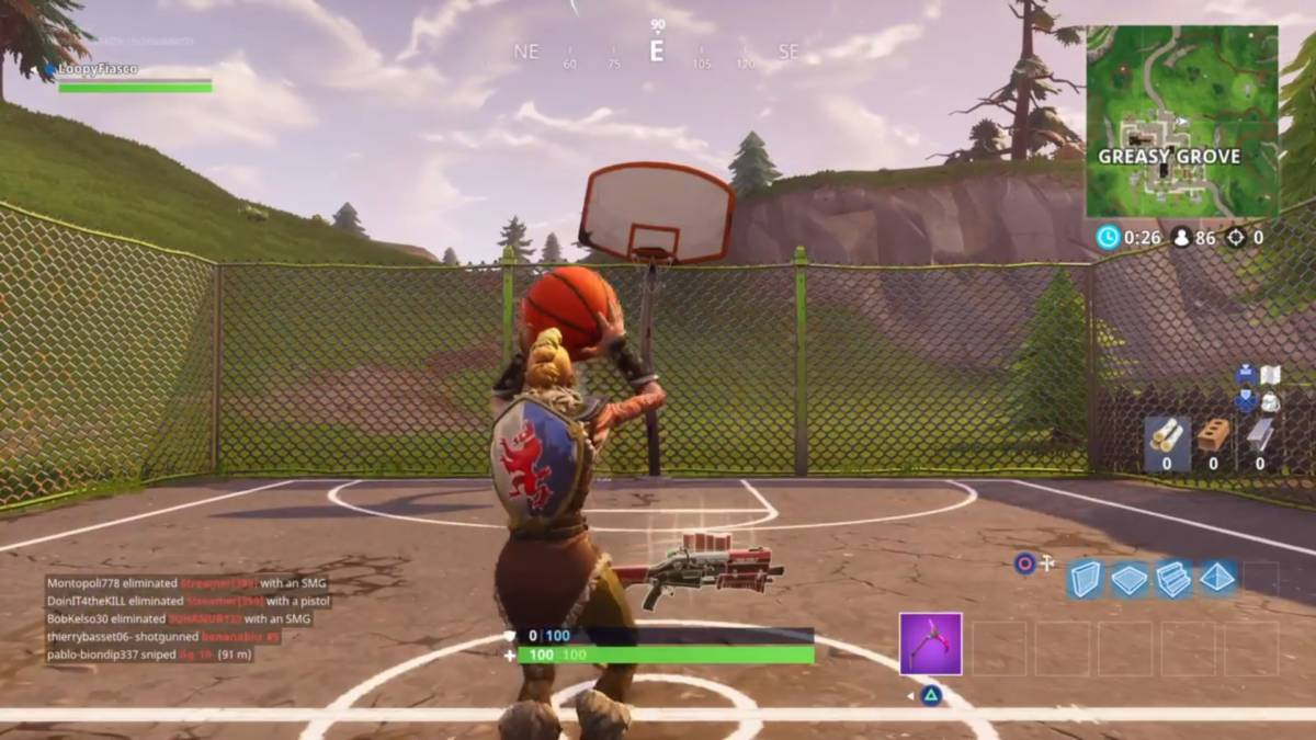 Fortnite basketball hoop locations Greasy Grove 1
