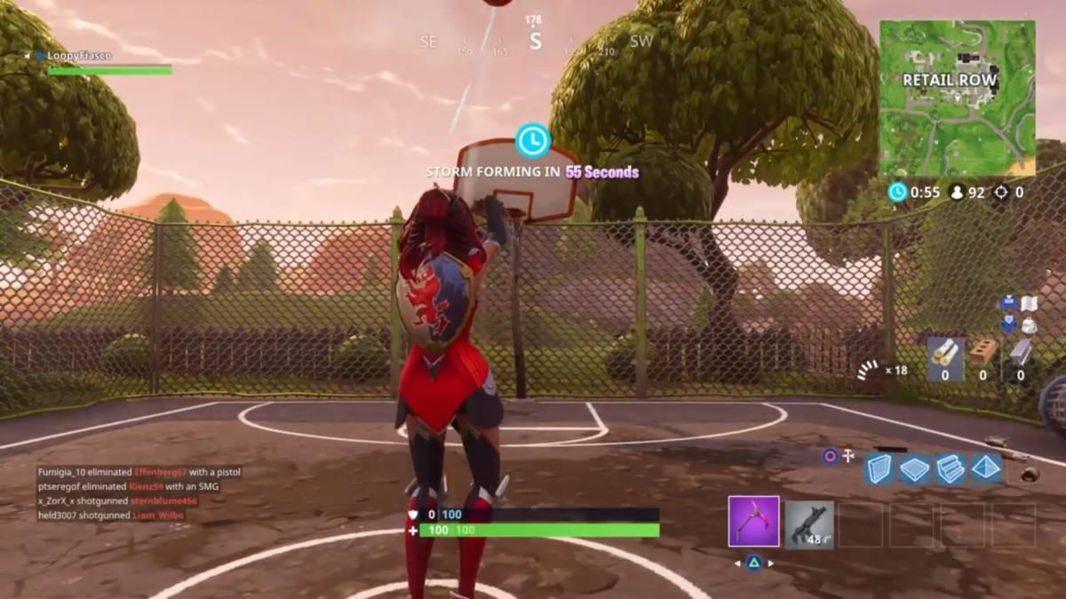Fortnite basketball hoop locations Retail 1