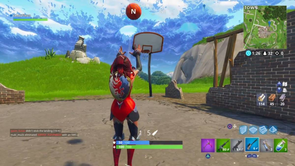 Fortnite basketball hoop locations containers 1
