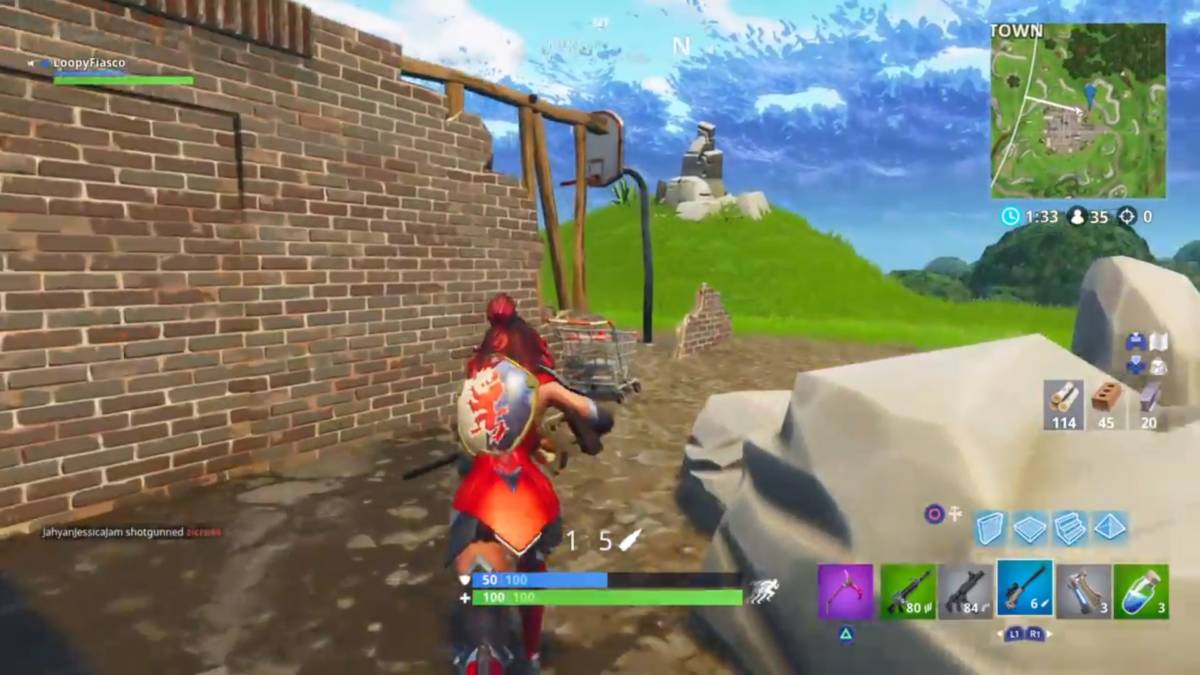 Fortnite basketball hoop locations containers