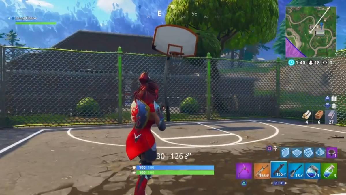 Fortnite basketball hoop locations football factory 1