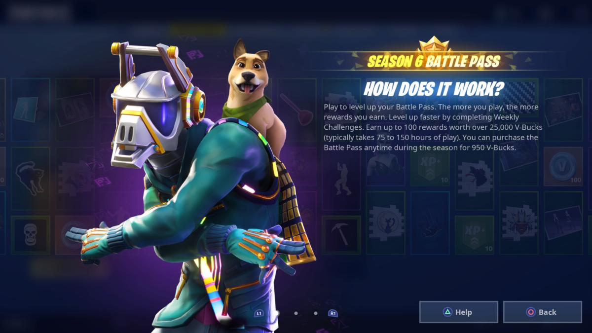 once you purchase the battle pass launch season 6 you will be greeted with the following screens - fortnite season 6 skins battle pass