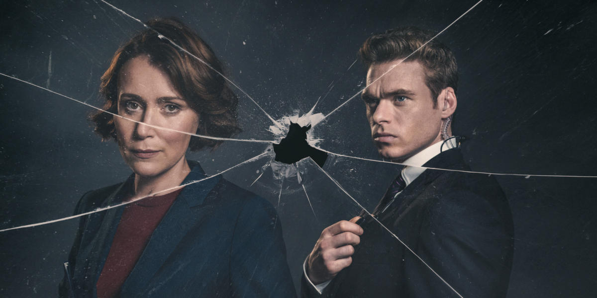 Programme Name: Bodyguard - TX: n/a - Episode: n/a (No. Generics) - Picture Shows: David Budd (RICHARD MADDEN), Julia Montague (KEELEY HAWES) - (C) World Productions - Photographer: Sophie Mutevelian