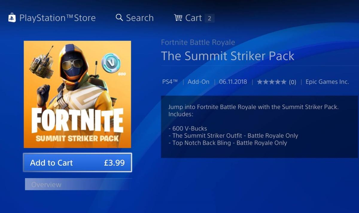 the summit striker pack gives you 600 v bucks in addition to the skin itself as well as its own back bling it costs 3 99 which is par for the course with - different summits fortnite