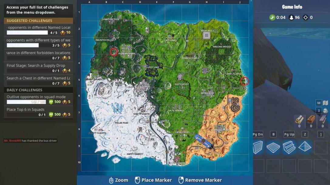 Fortnite Piano Locations
