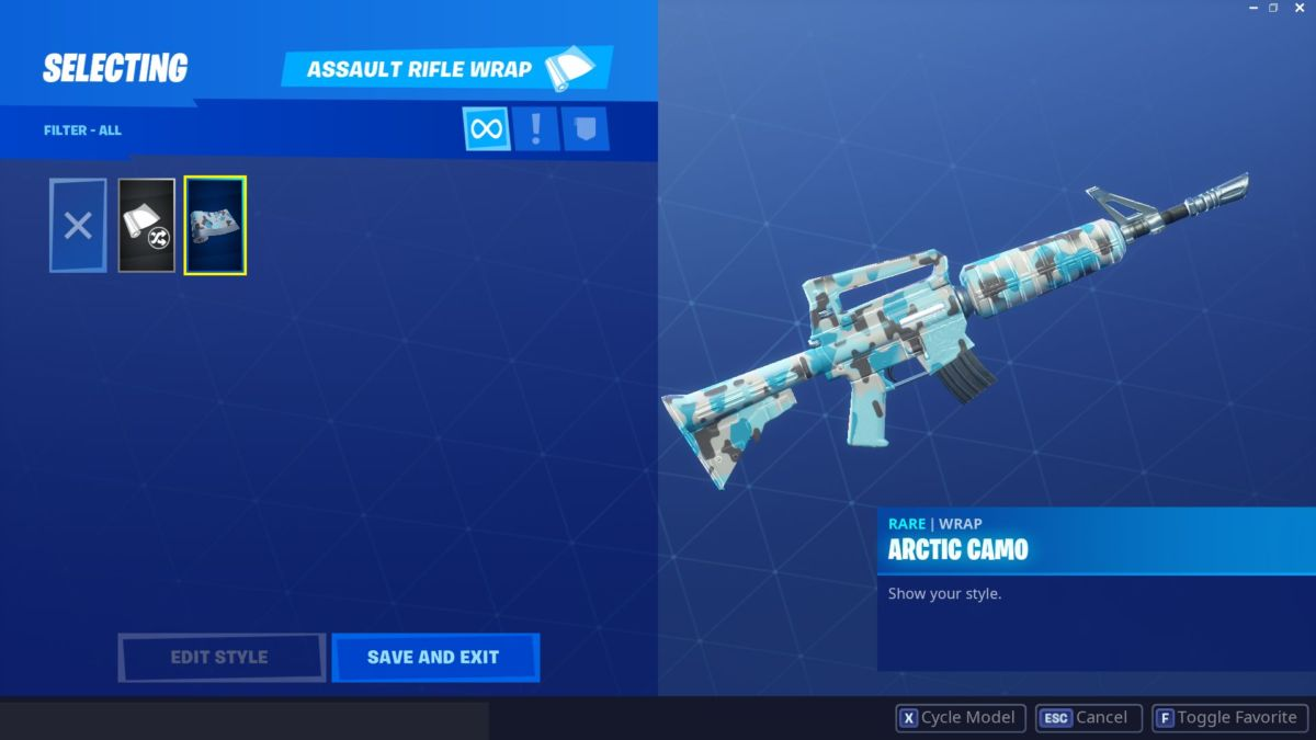 Fortnite weapon wraps