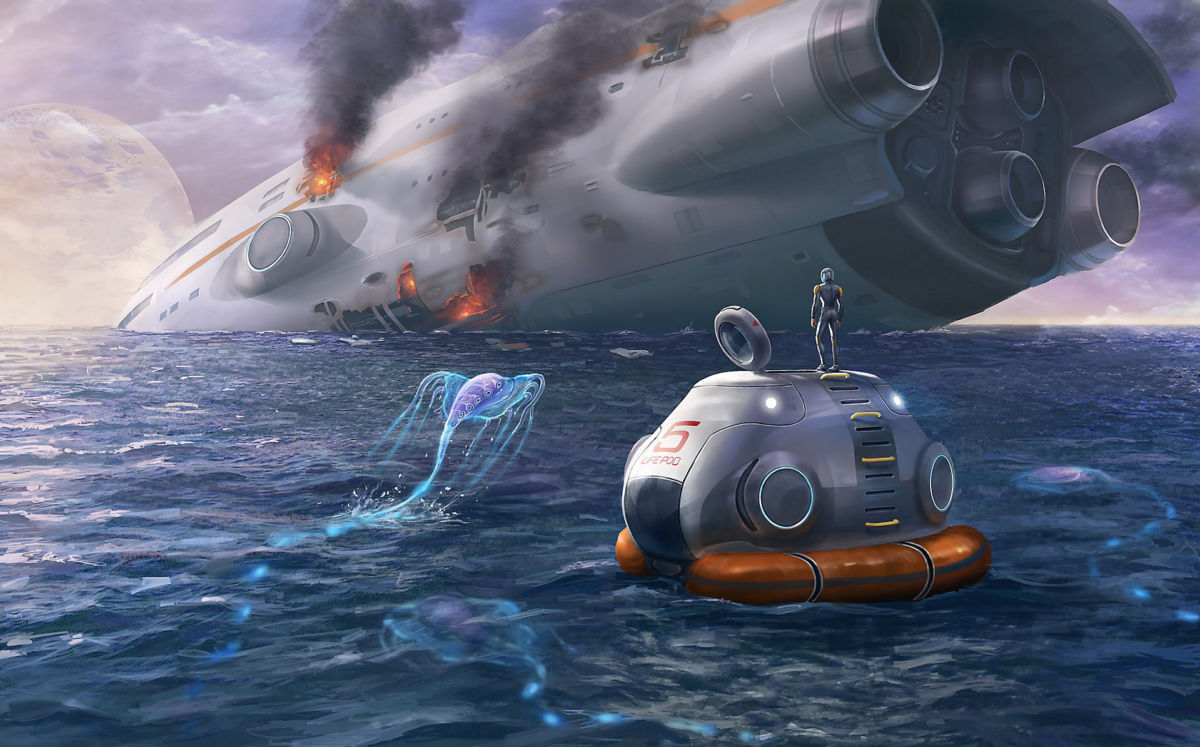 Subnautica Ps4 Review A Shorefire Success The hud i think is going to be one of my new best friends. subnautica ps4 review a shorefire