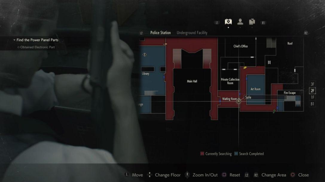 Resident Evil 2 waiting room safe