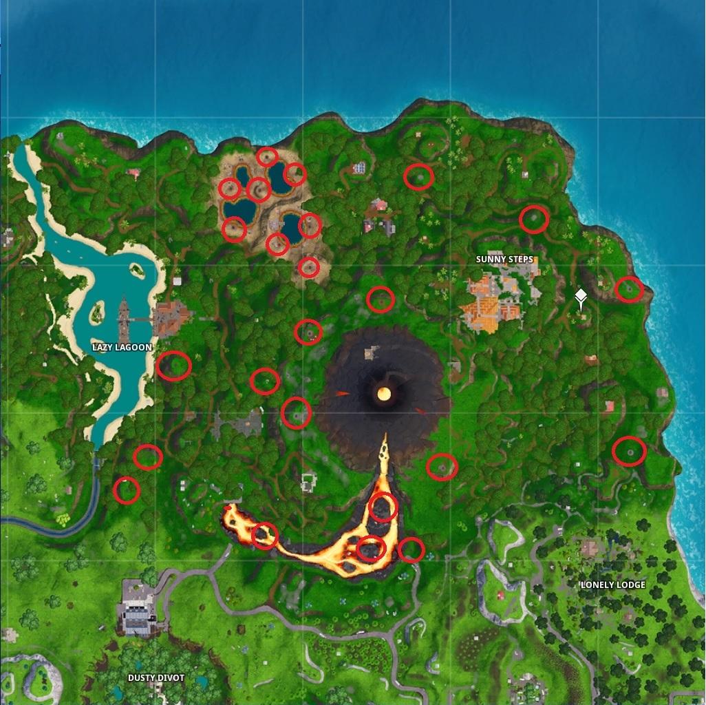 Fortnite Volcano vents