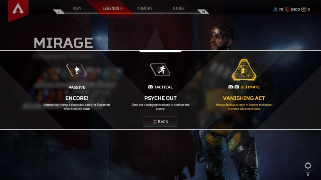 Mirage Apex Legends