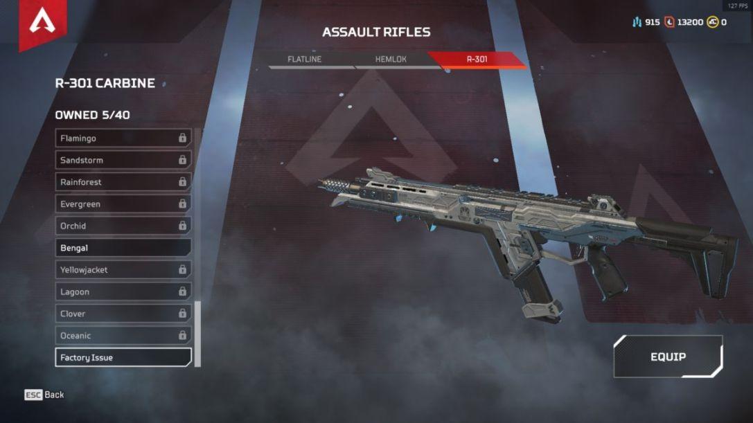 Apex Legends R-301 carbine