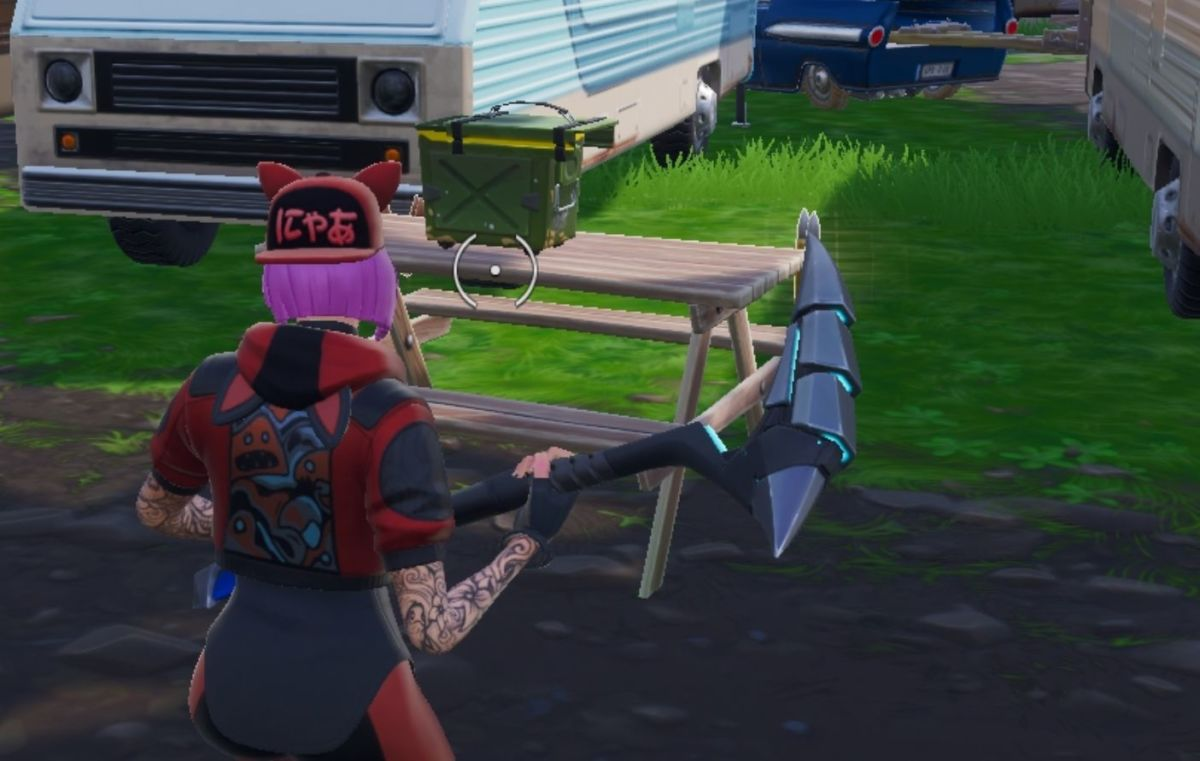 Fortnite Overtime Challenges Search Ammo Boxes At A Motel Or Rv