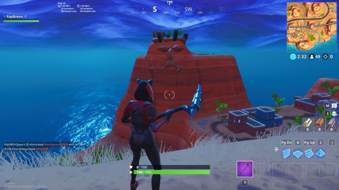 Fortnite giant face location