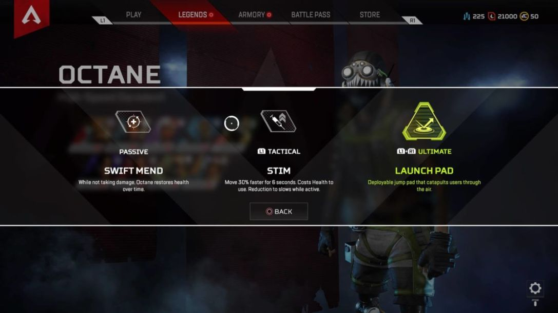 Apex Legends Octane Abilities