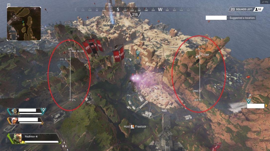 Apex legends landing tips