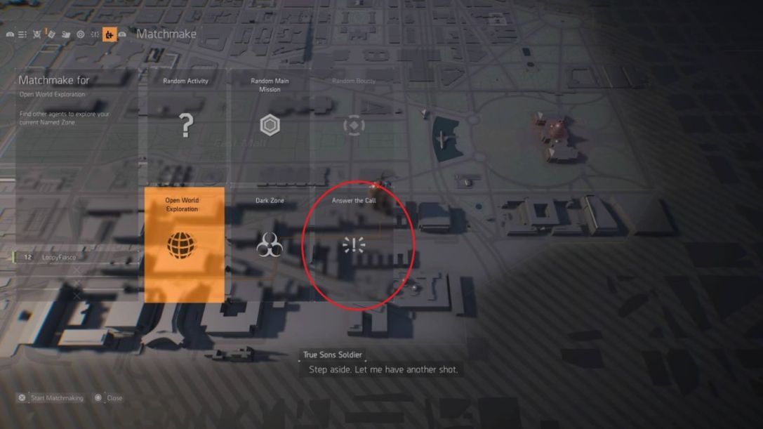 On Call The Division 2