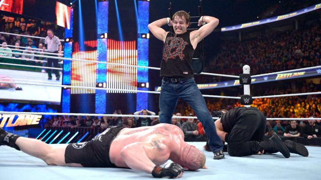 Roman Reigns vs. Dean Ambrose vs. Brock Lesnar