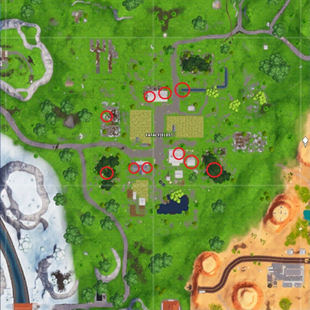 Fortnite Fatal Fields chest locations
