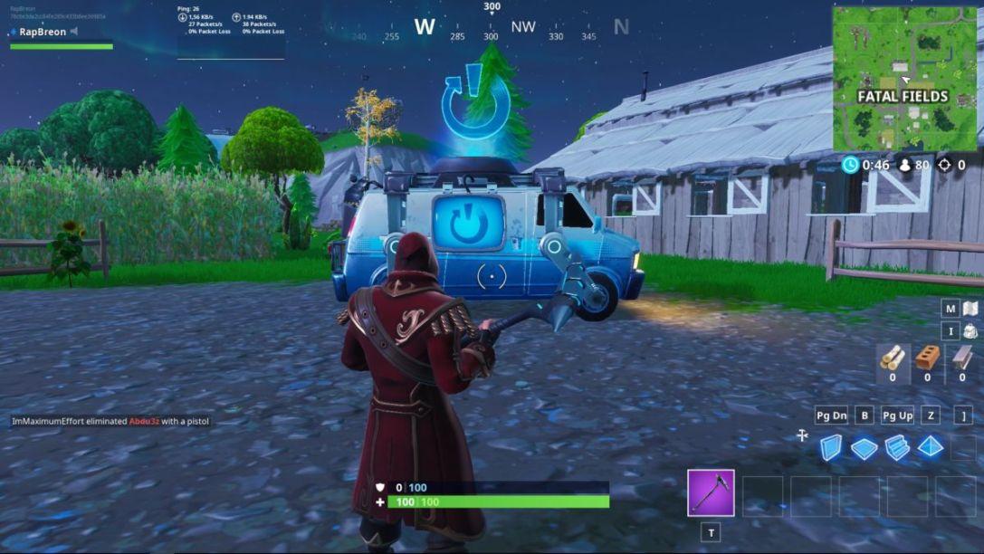Fortnite reboot van locations
