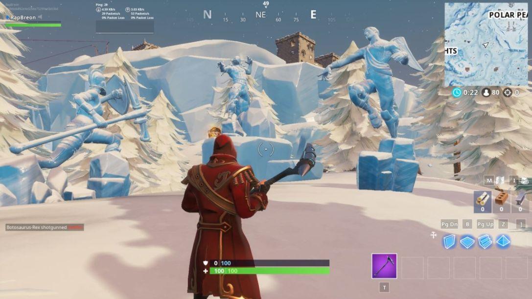 fortnite ice sculptures