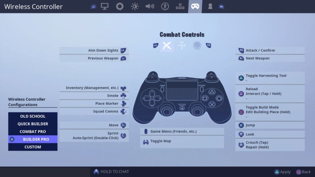 Fortnite Builder Pro Setting