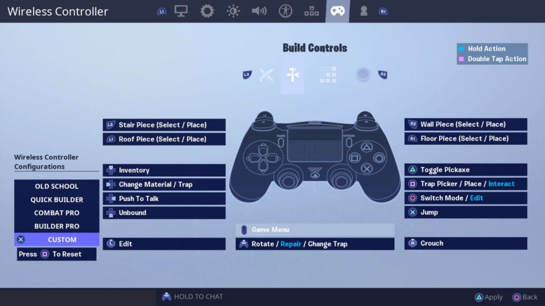Fortnite-custom-build-settings