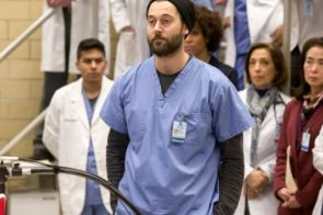 """NEW AMSTERDAM -- """"Preventable"""" Episode 120 -- Pictured: Ryan Eggold as Dr. Max Goodwin -- (Photo by: Francisco Roman/NBC)"""