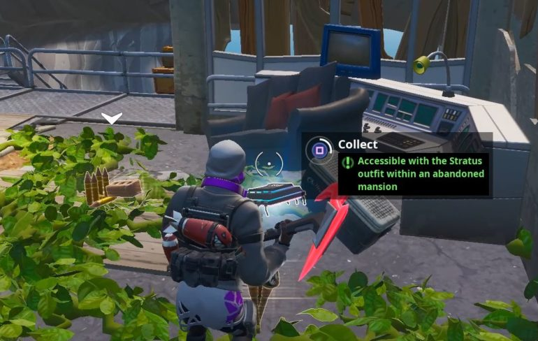 Fortnite Fortbyte #62: Accessible With The Stratus Outfit Within An