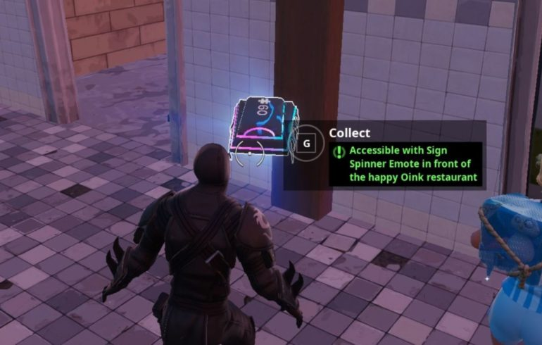 Fortnite Fortbyte #60: Accessible With Sign Spinner Emote In Front