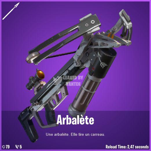 Fortnite crossbow