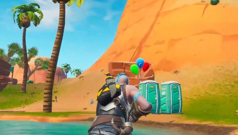 Fortnite 14 Days Of Summer Pop Party Balloon Decorations Locations