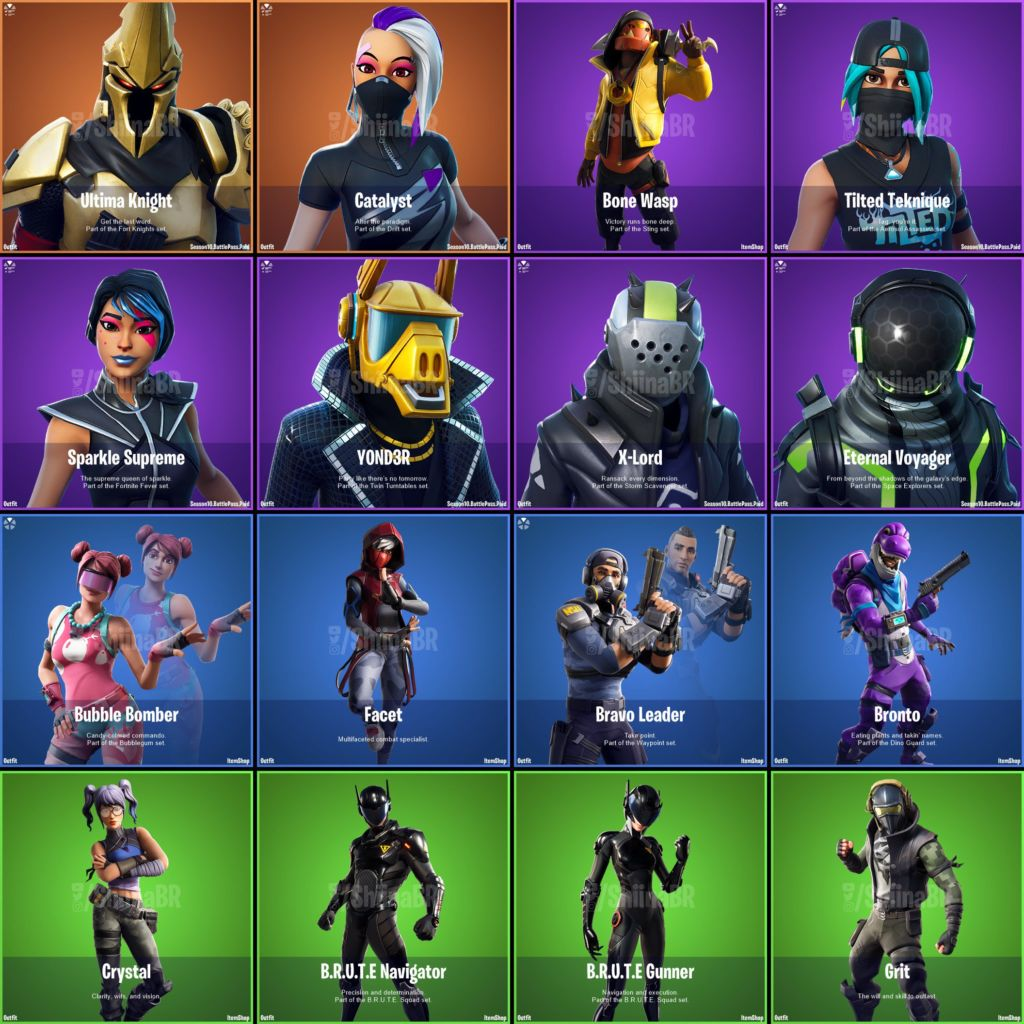 Fortnite v10 0 Leaked Skins & Cosmetics: Bronto, Bubble