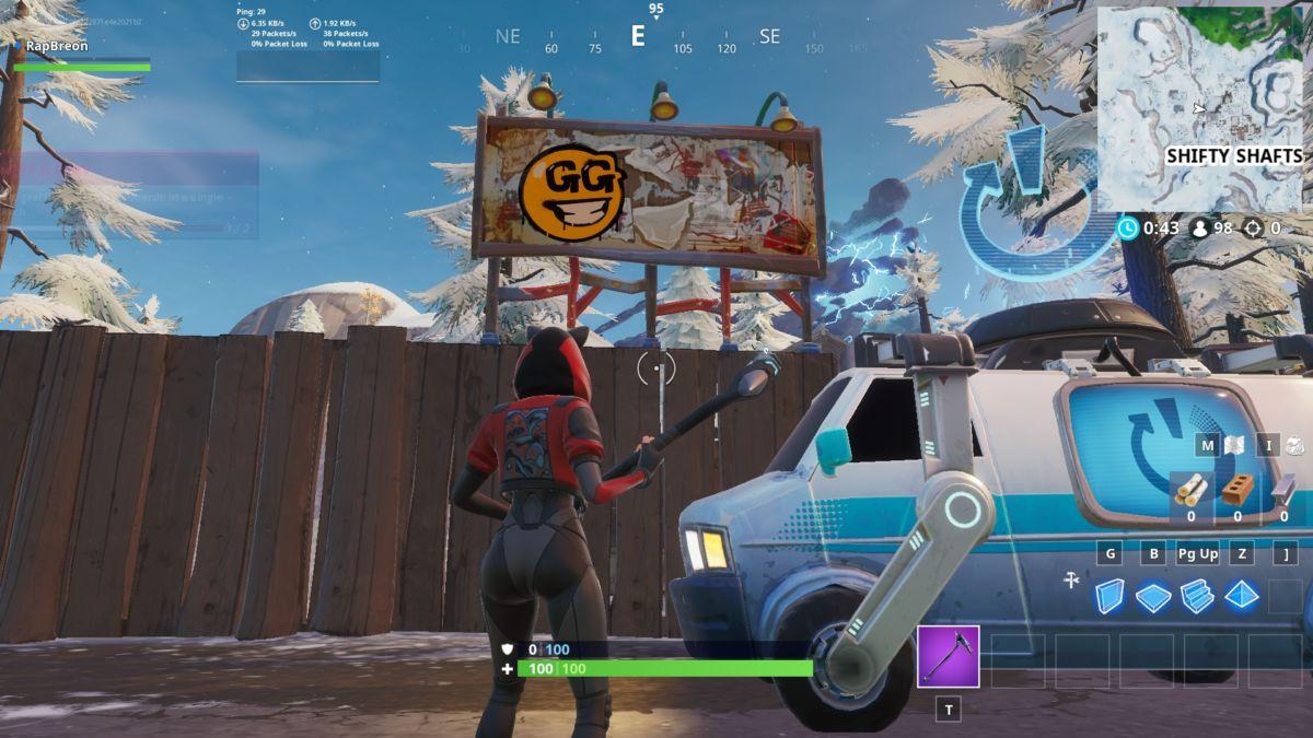 Fortnite Season X Spray & Pray: Graffiti Covered Billboards