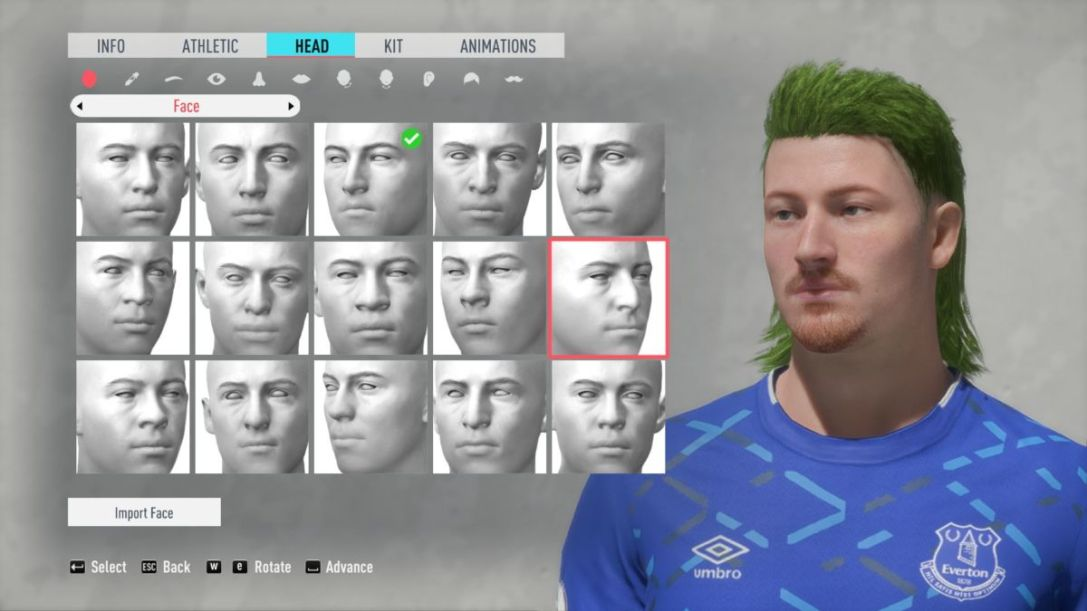 FIFA 20 character creator