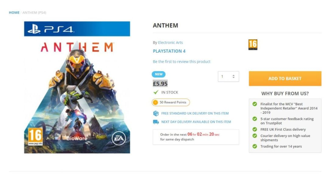Anthem The Game Collection