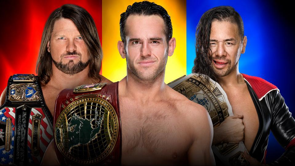 AJ Styles vs Shinsuke vs Roderick Strong