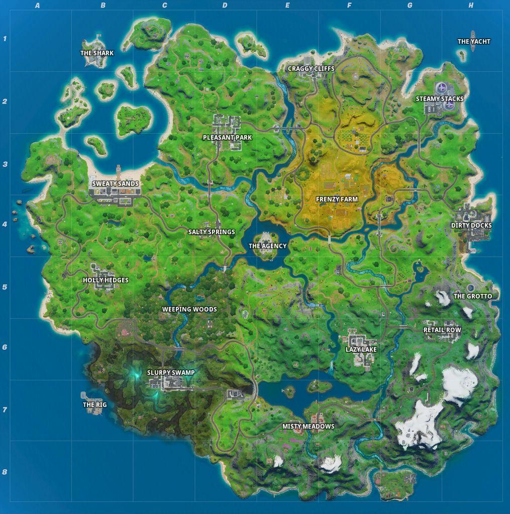 Fortnite full map chapter 2 season 2 named locations