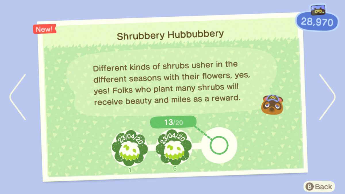 Animal Crossing: New Horizons Nature Day Guide: Shrubs ...