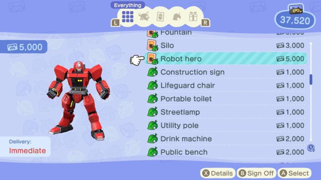 New Horizons Robot Hero