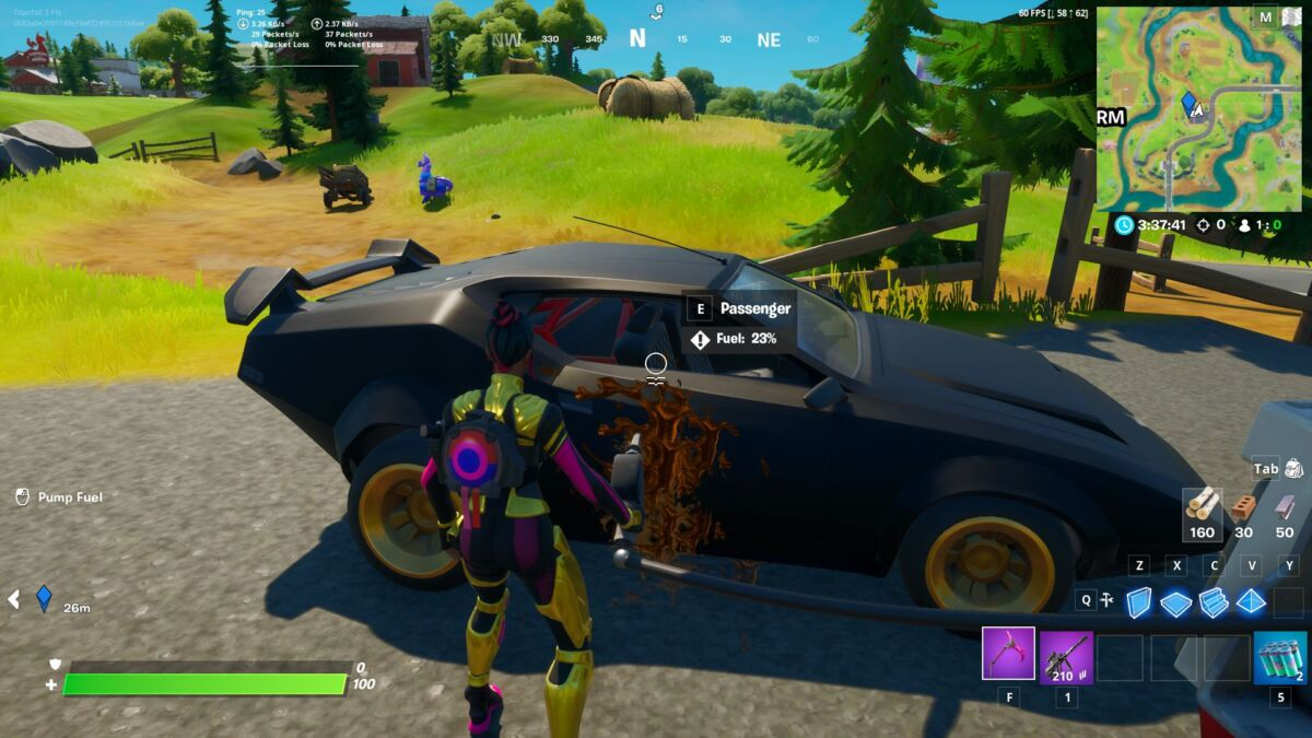 Fortnite Drive A Car From Retail Row To Pleasant Park In Less Than Four Minutes