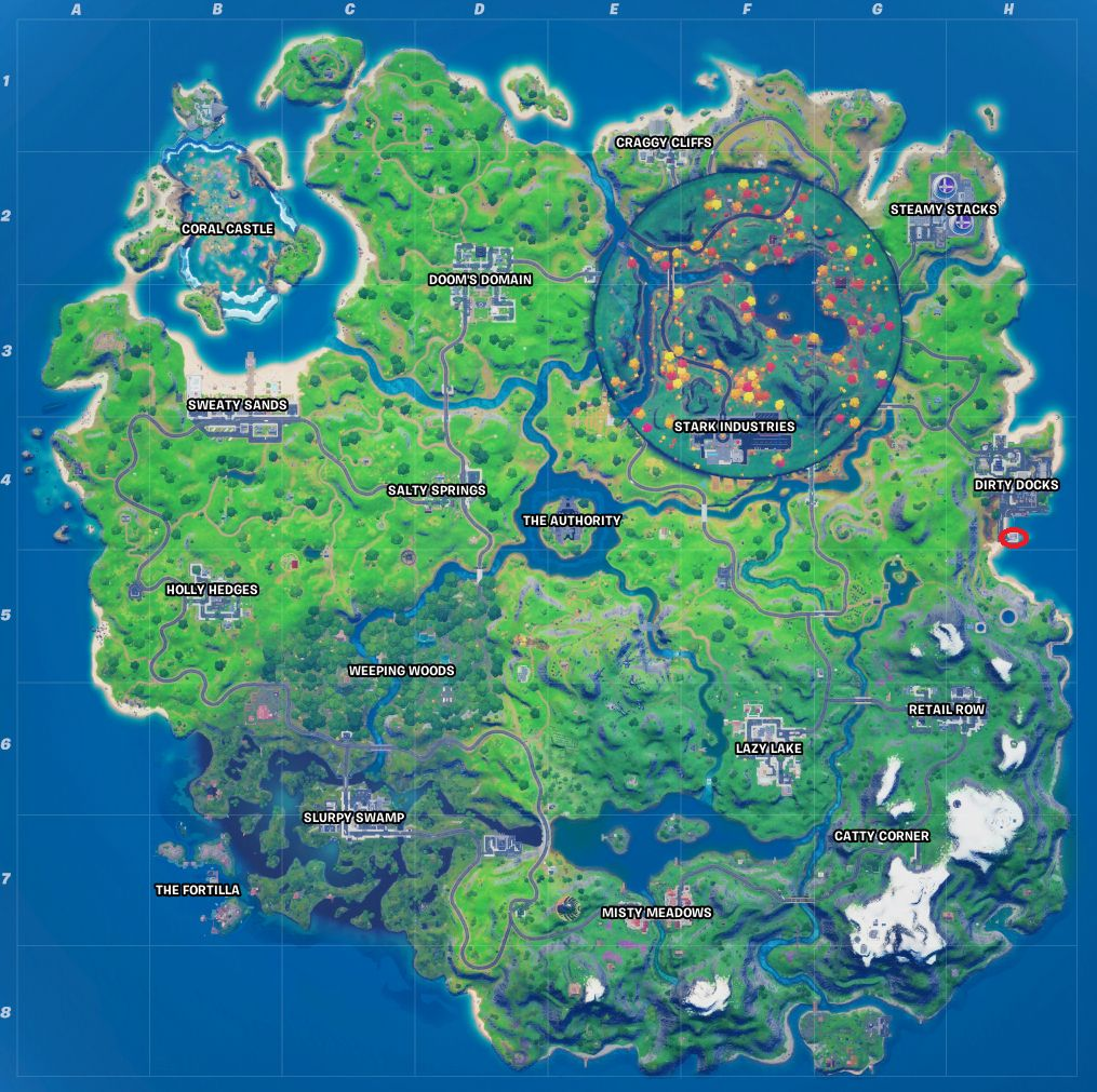 Fortnite Wolverine's Trophy Location