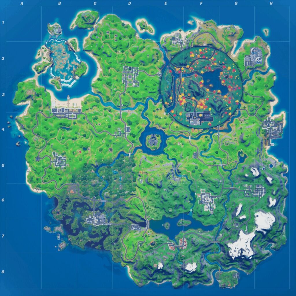 Fortnite v14.10 Map
