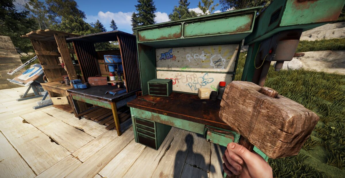 Rust Finally Lets You Pick Up And Move Work Benches