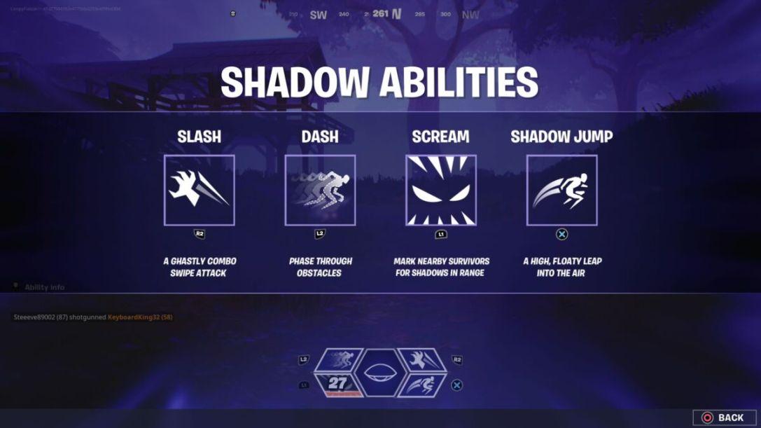 Fortnite Shadow Abilities