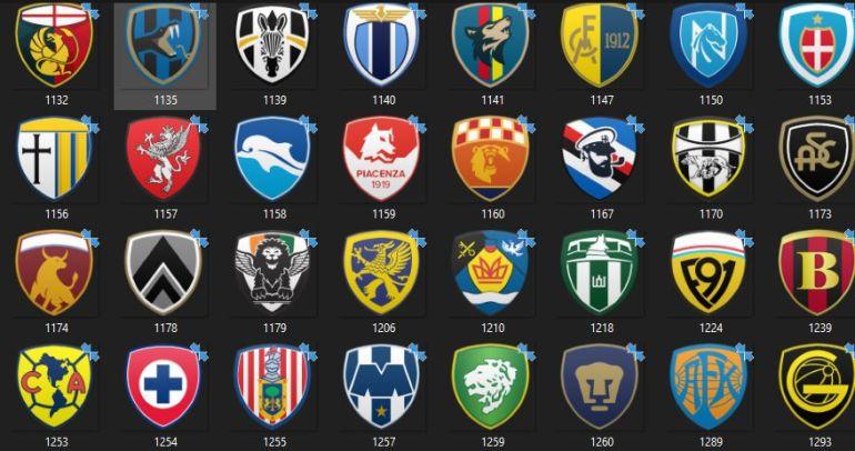 Football Manager 2021 logos badges