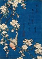 Katsushika Hokusai La cascata di Amida in fondo alla via di Kiso, dalla serie Viaggio tra le cascate giapponesi (1832-1833 circa) Silografia policroma, 38,7 x 25,9 cm - Honolulu Museum of Art