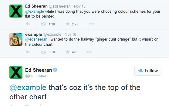 Ed Sheeran - Example Twitter Feud
