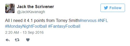 Torrey Smith Tweet